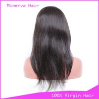 Virgin Human Hair Lace Wigs Straight