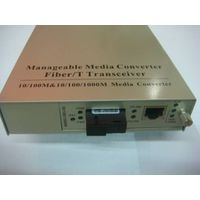 10/100/1000Mbps Manageable Fiber Media converter thumbnail image