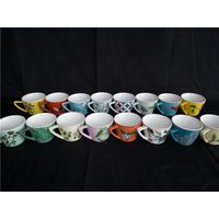 Ceramic hand paint coffee cup for office hotel home