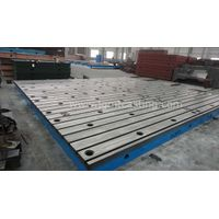 Cast Iron T Slotted floor plate with customization thumbnail image