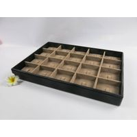 20 Compaertments Wooden Jewelry Display Tray for Rings