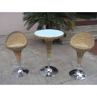 Outdoor Bistro bar table and stool