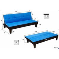 ST1422 fabric sofa bed