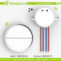 two gang wireless self powered wall switch