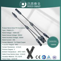 TUV approved 1500V IP67 4T1 Y branch PV solar connector for solar panel