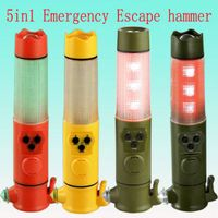 5in1 multifunction auto safety hammer with flashlight