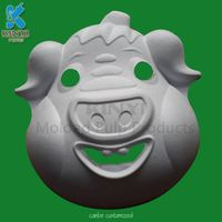 Delicate And Beautiful Fiber Molded Plup White Paper Masks thumbnail image