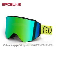New 2019 Trending Product Custom Logo High Quality Snowboard Goggles With Magnet Lens thumbnail image
