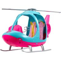 Barbie Dreamhouse Adventures Helicopter, Pink and Blue with Spinning Rotor, for 3 to 7 Year Olds thumbnail image
