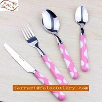 Irish Discount Bright Colored Sunflower Plastic Handle Cutlery