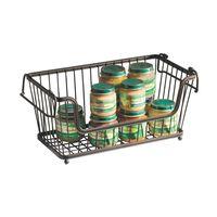 Large Rectangular Stacking Wire Basket, Storage Basket thumbnail image