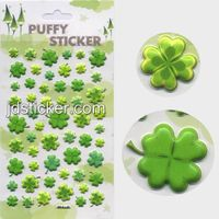 Lovely clover puffy stickers,foam sticker , customized design of puffy sticker welcome thumbnail image