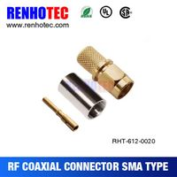 ROHS UL SMA Crimp Male RF Electrical Connector for RG58