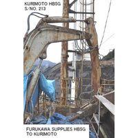 "USED ""KURIMOTO"" HYDRAULIC OPERATED BREAKER MODEL HB5G (CHISEL DIAMETER 75MM) S/NO. 213 thumbnail image"