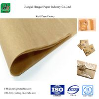 Unbleached uncoated 118gsm packaging kraft paper