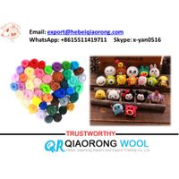 factory supply multicolor combed wool top roving