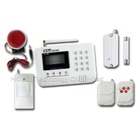 8 Wireless Defence Zones LCD Screen GSM Alarm System with Voice Prompt