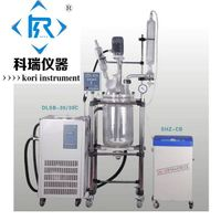 Laboratory Equipment 50l jacketed double lined glass reactor price