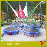 Commercial lastest design bungee trampoline for sale usa