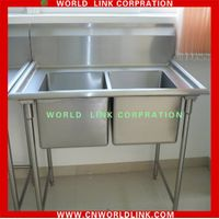 square double sink stainless steel kitchenware sink