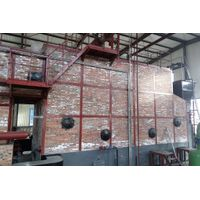 The combination of water fire tube boiler smoke pipe thread
