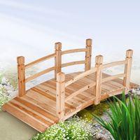 wooden garden pond decoration bridge