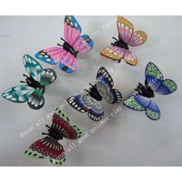 new design! polymer clay butterfly hair clip claw thumbnail image