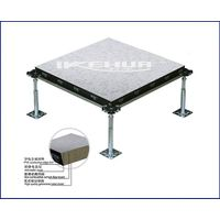 Cement fiber raised floor with ceramic tile thumbnail image