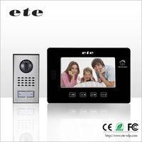 """Support 32GB TF Card door Intercom Digital 7"""" LCD Video Door bell with recording function"""