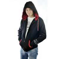 Mens zip up draw string hoody