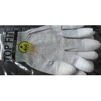 Carbon Fiber Fingertips/Palm PU Coated Antistatic Gloves thumbnail image