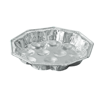 Disposable oval food containers shallow aluminium foil platters fish grill pan thumbnail image
