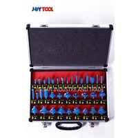 Blue color aluminum box package 35 PCS router bit set