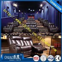 Living room furniture top grain leather recliner sofa