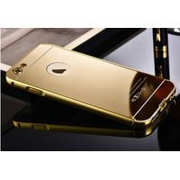 Gold aluminum Bumper phone case for iphone 6,iphone 6 metal bumper mirror case