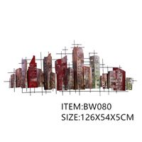 wall art metal art on wall unique home decor high buildings and large mansions