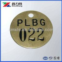 Brass Embossment Number Tags Letter Tags thumbnail image