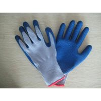 latex coated gloves, crinkle surface