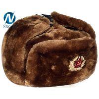 Real fur ushanka russian hat 2017 new arrival custom classic Russian military ushanka hat wholesale thumbnail image