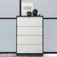 Office Metal Lateral 4 Drawers Cabinet Steel Filing Cabinet thumbnail image