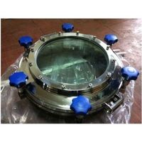 SS 304 450mm H:100mm,Stainless steel manhole cover with sight glass YAA ,Pressure with endoscopic m