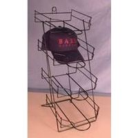 4-tier counter cap display rack/hat racks