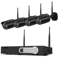 Black 4CH 720P WIFI NVR kit