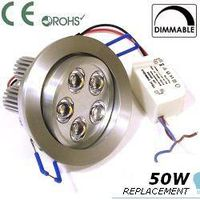 Brushed solid Aluminium Downlight, Dimmable with Directional adjustment