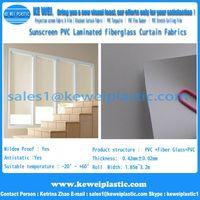 Blackout PVC Laminated fiberglass Window Curtain Fabric