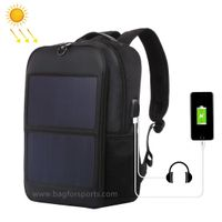 14W Solar Backpack, Solar Panel Powered Backpack Water Resistant Laptop Bag with USB Charging Port S thumbnail image