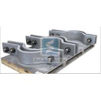 Pipe clamp with two bolts pipe fitting