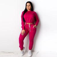 Custom Women's Tracksuit 100% cotton Sweatpants Runner Suits Women's thumbnail image