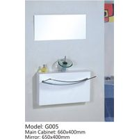 bathroom glass vanity G005