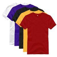 T-Shirt Basic Plain Blank Crew O Neckline Man Tees Shirt thumbnail image